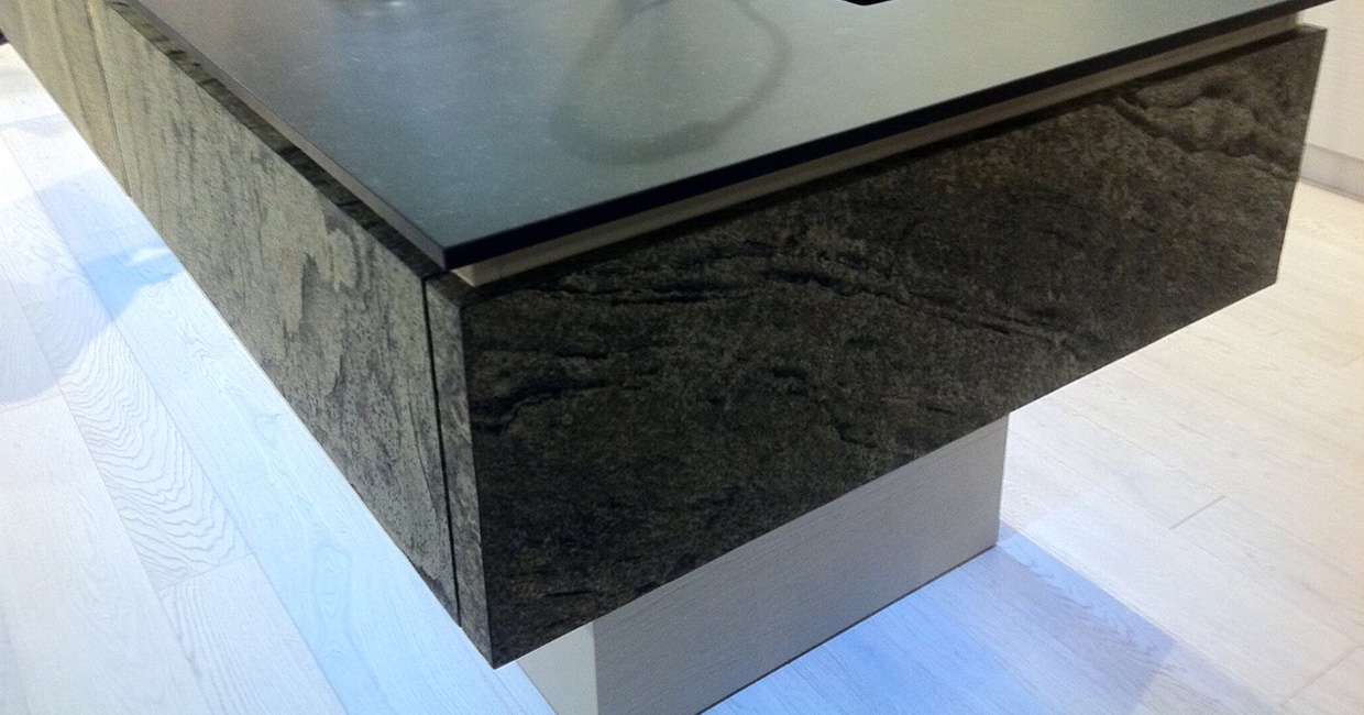 Decostone is a striking 1- or 2mm thick natural stone product