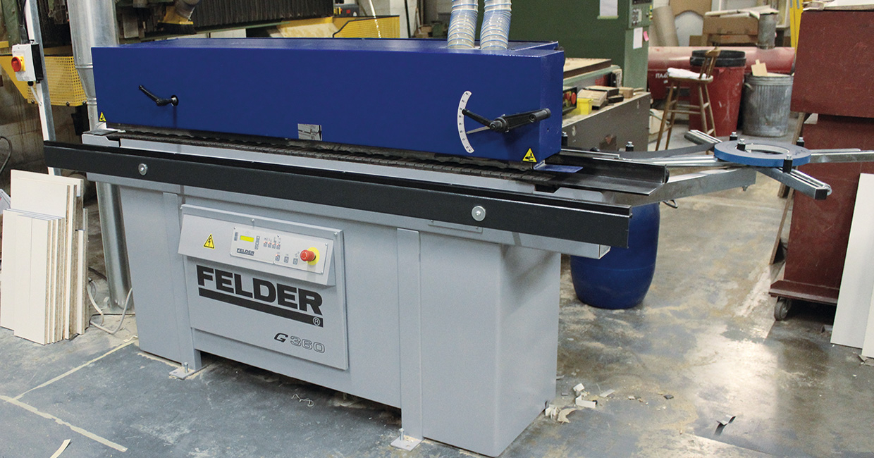 Felder's G360 edgebander working well for Kings Oak