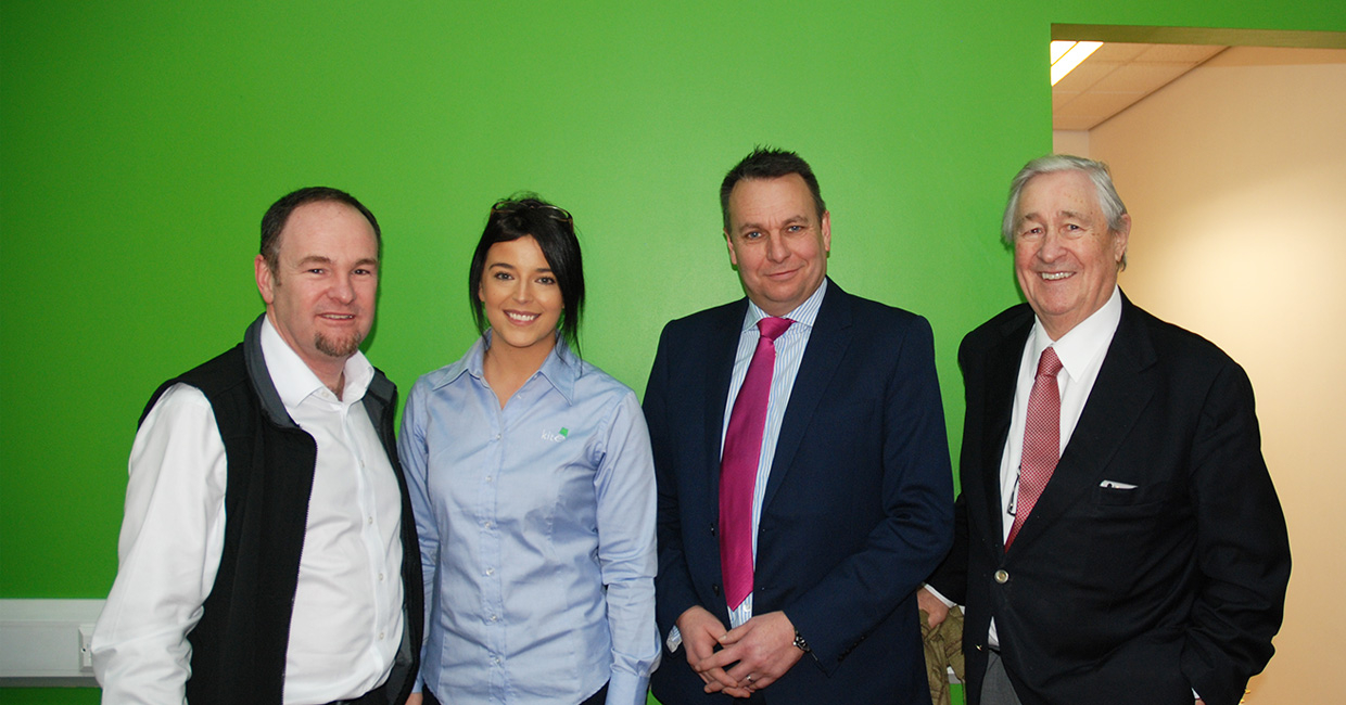 Left to right: Kite Packaging's managing partner Gavin Ashe and marketing manager Rheanne Pittaway alongside Craig Humphrey, Coventry and Warwickshire Local Enterprise Partnership GrowthHub managing director and Coventry North West MP, Geoffrey Robinson