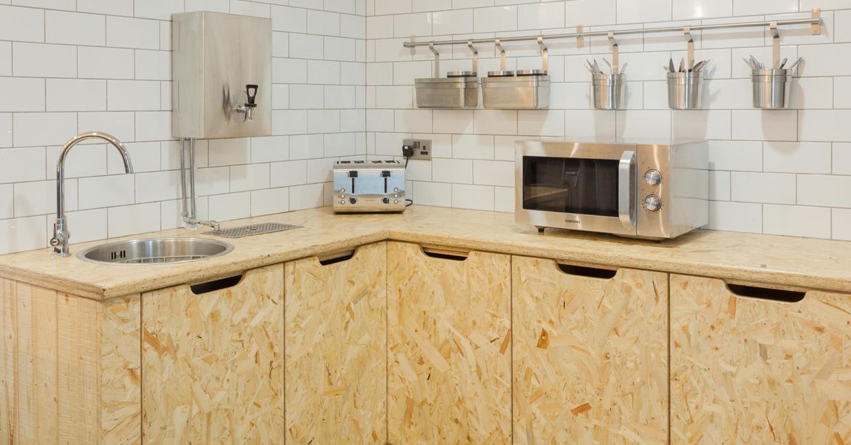 Smiley Monroe's canteen kitchen using SterlingOSB