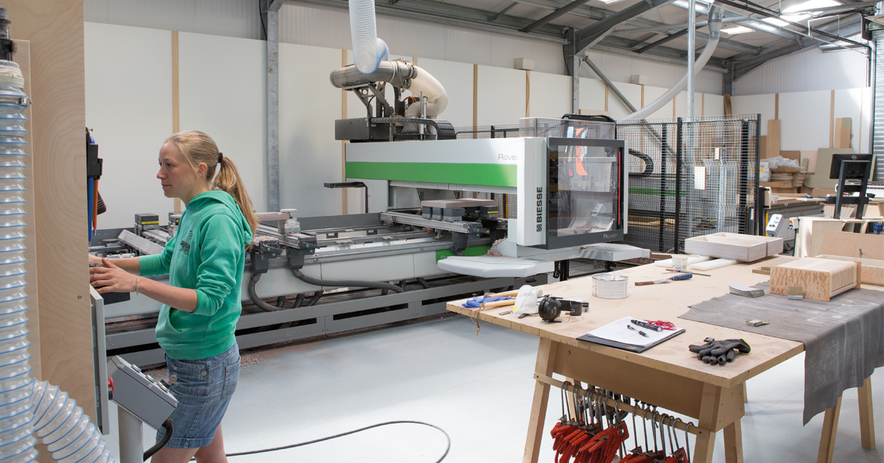 Sarah pictured with the Rover A five-axis which has already demonstrated outstanding capability