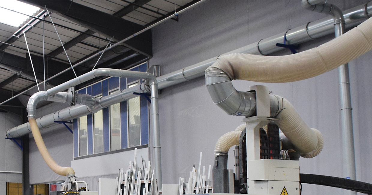 Dust Control Systems recently commissioned a new dust extraction system for Distinction Doors