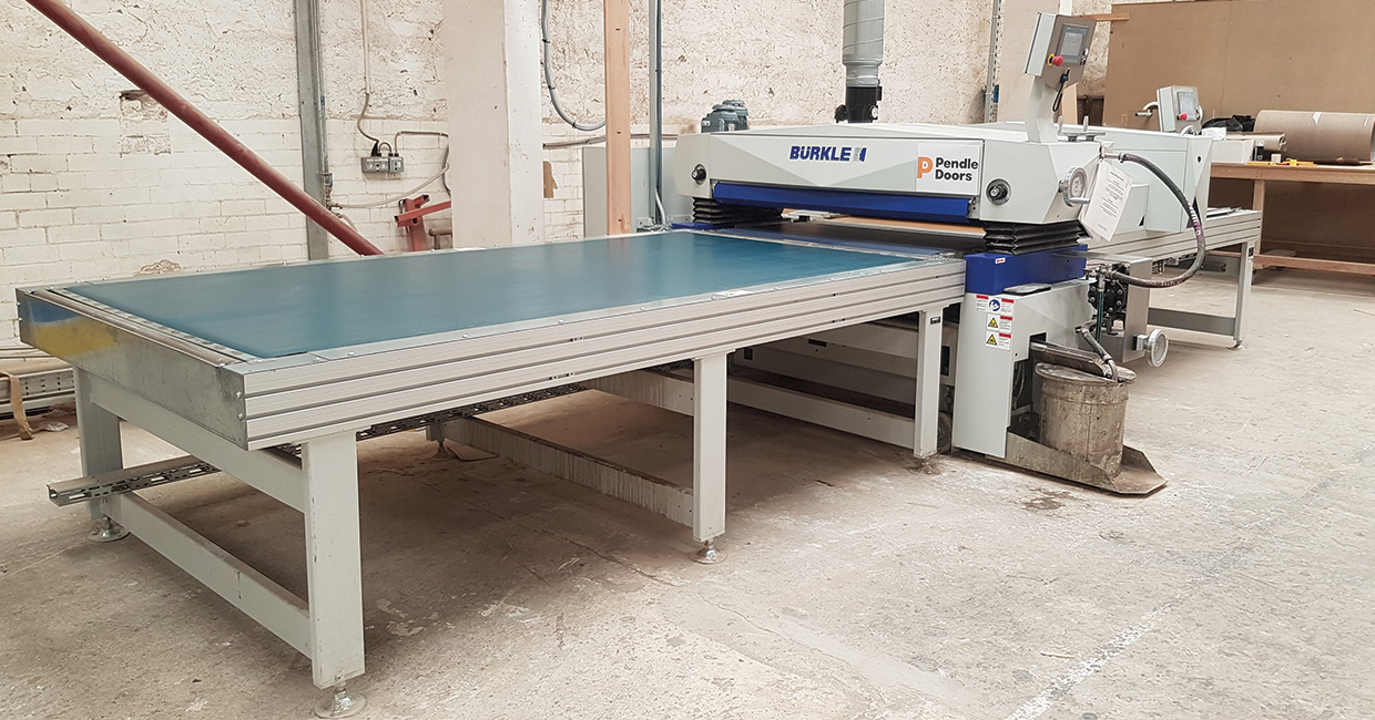 Pendle Doors recently installed a Bürkle roller-coating UV curing system and haven't looked back