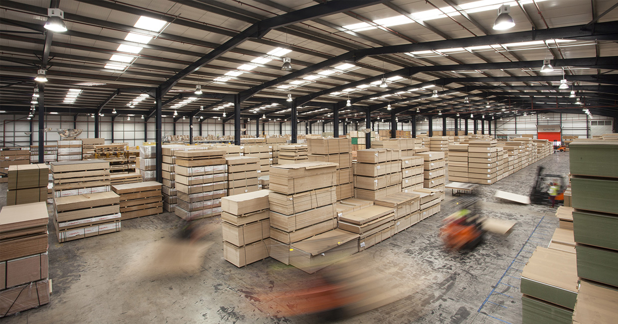 The clean and highly efficient warehousing at Lawcris