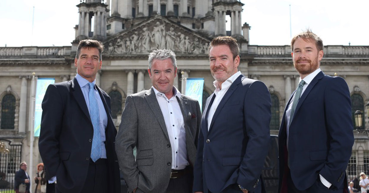 Simon Gilbert H2 Equity Partners, Brian & Kieran McCracken BA Components & Cathal Turley H2 Equity Partners