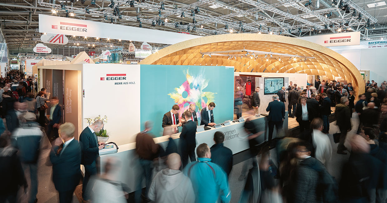 Egger commits to its international marketing programme including the world's leading trade shows