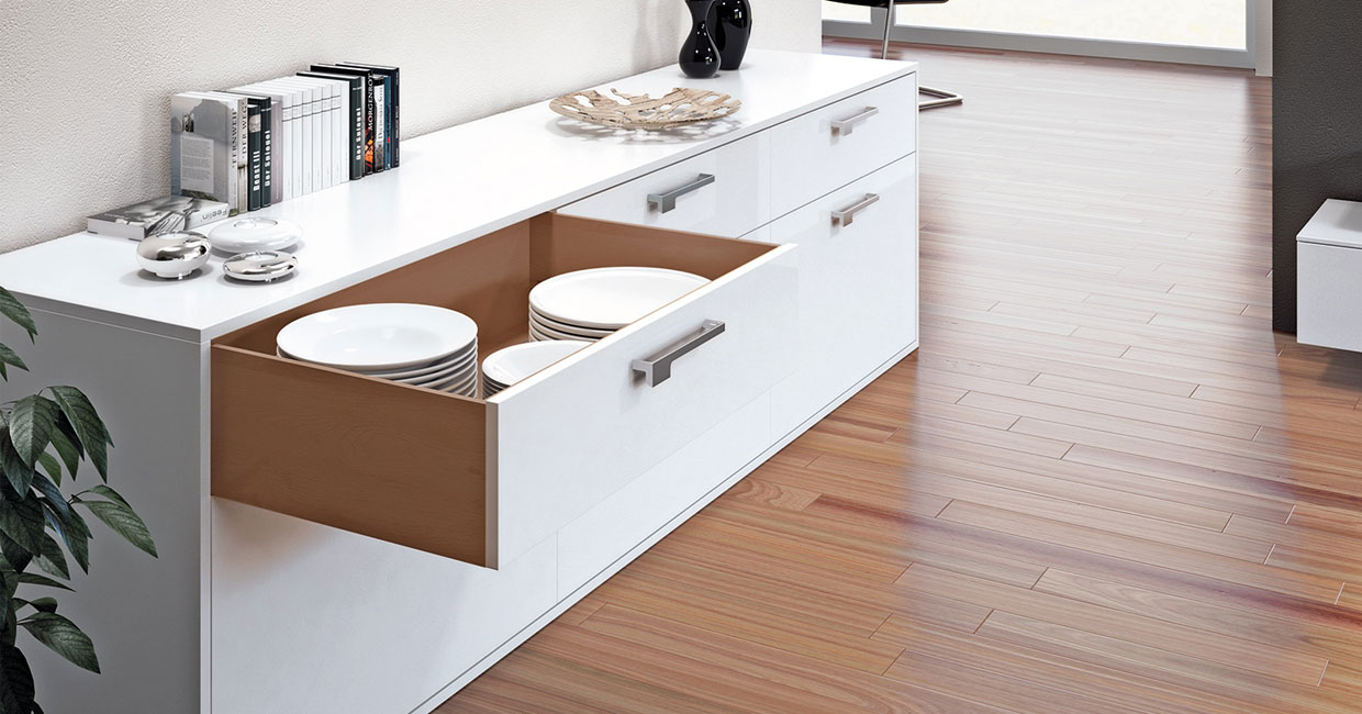 Perfect alignment for a high-quality finish with Hettich's Quadro 4D runners