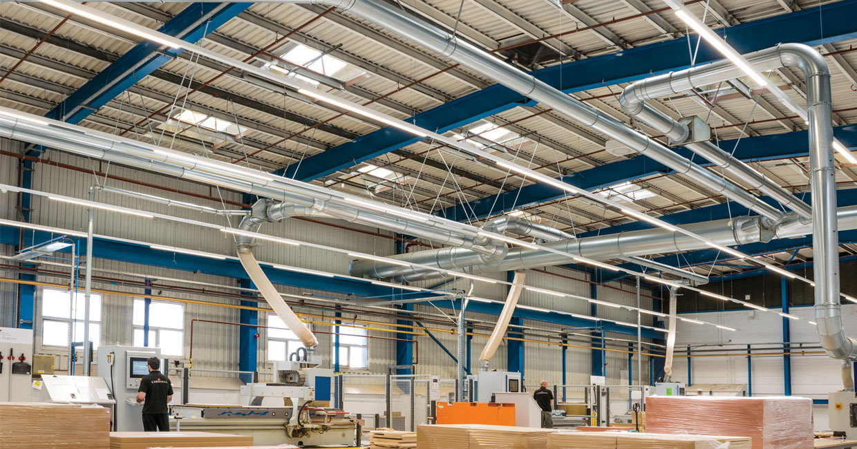 DCS engineers installed FastClip ductwork throughout at Cardinal