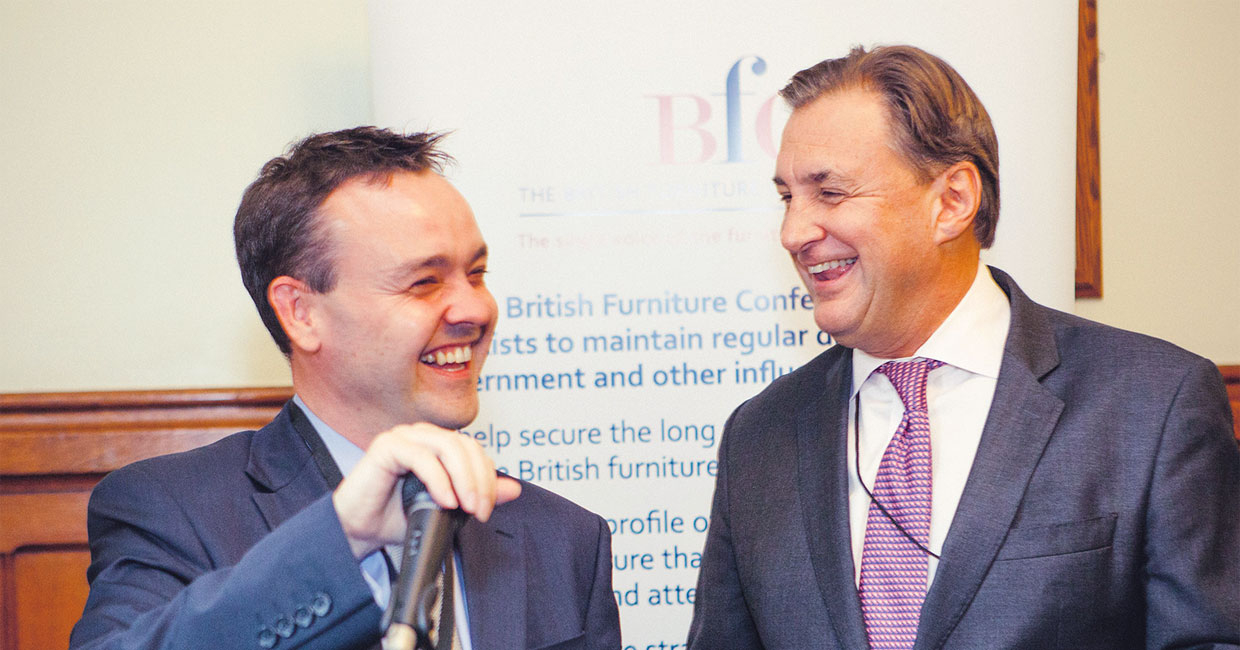 Stephen McPartland MP and APPFIG chairman (left) and BFC chairman Jonathan Hindle