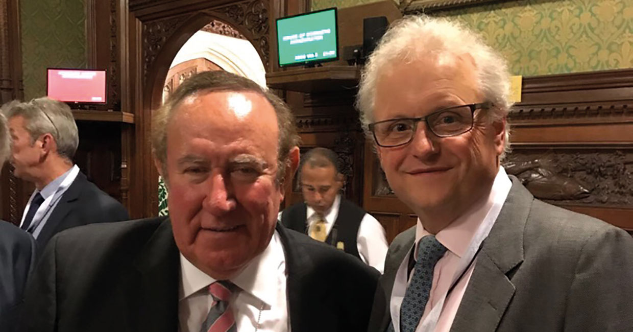 Whitehill MD, David Hudson, discussing the review with Andrew Neil, presenter of the BBC's political review show, This Week