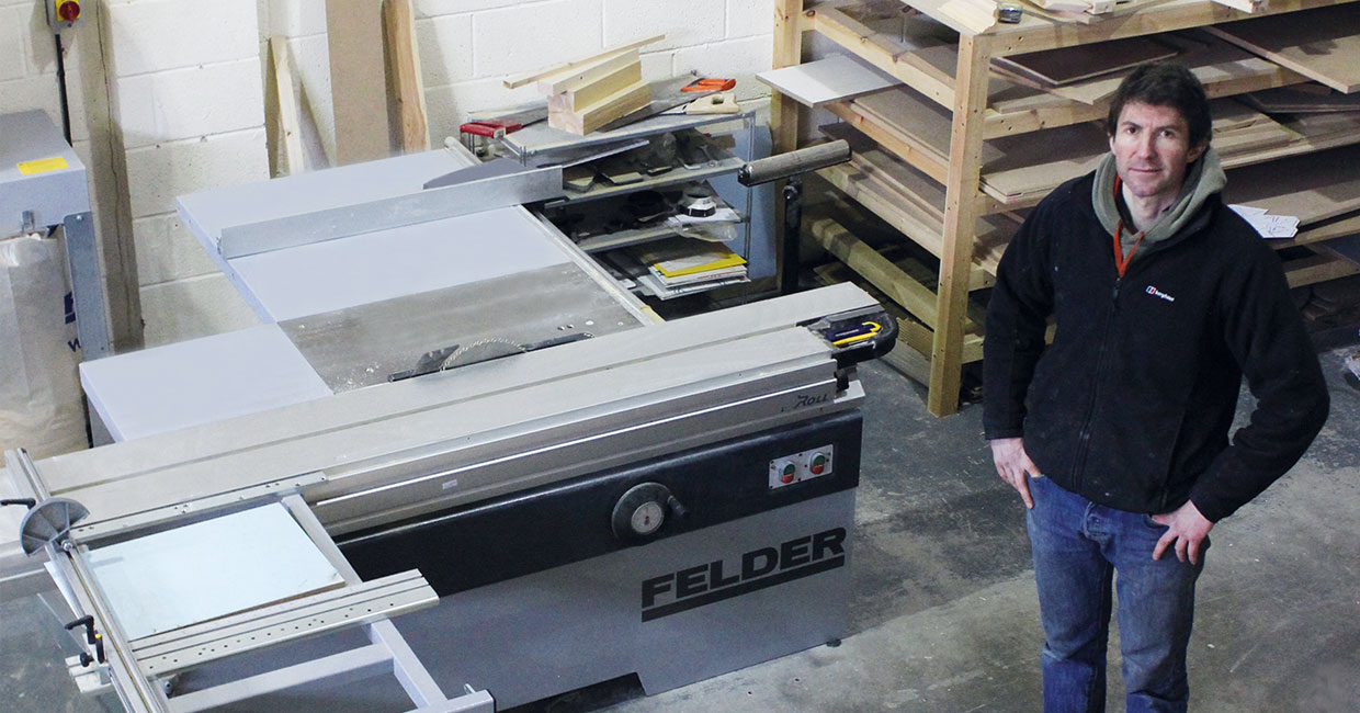 Jake Phipps with his Felder K500S sliding table saw
