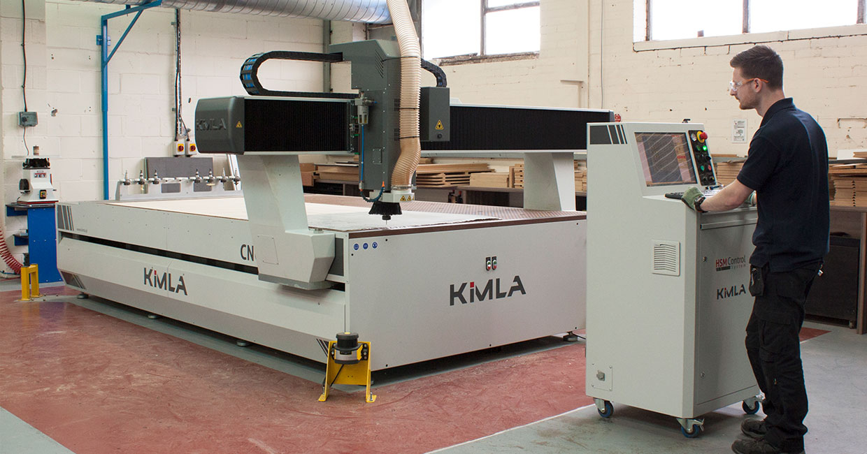 Kimla CNC router supplied and installed by Daltons Wadkin at Formica Group