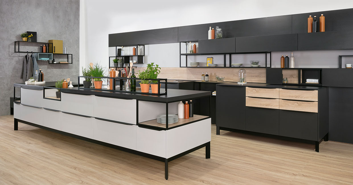Schüco's Smartcube used in a contemporary kitchen application