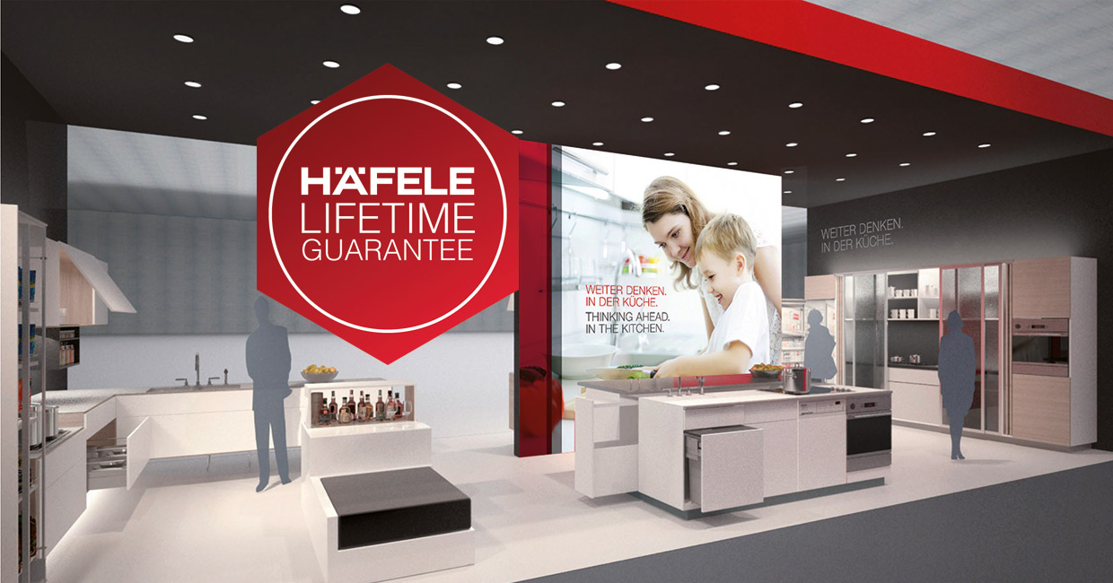 Häfele introduces lifetime guarantee across its in-house product set.