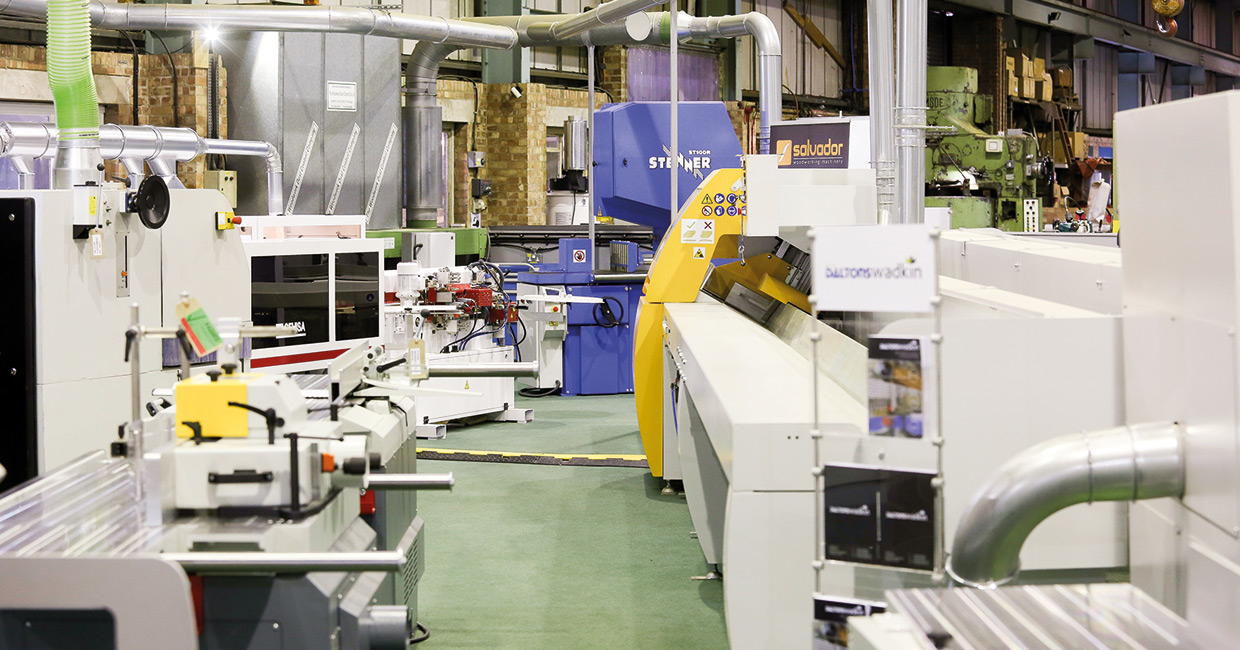 Serviced second-hand machinery ready for supply