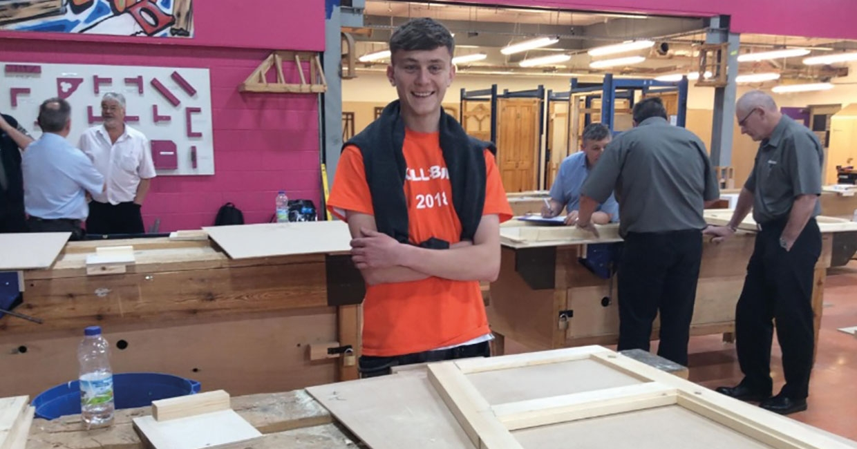 Joshua Lewis, an 18-year-old, Level 2 joinery apprentice employed by OFW Carpentry and Building Ltd, took first place in the Advanced Joinery category