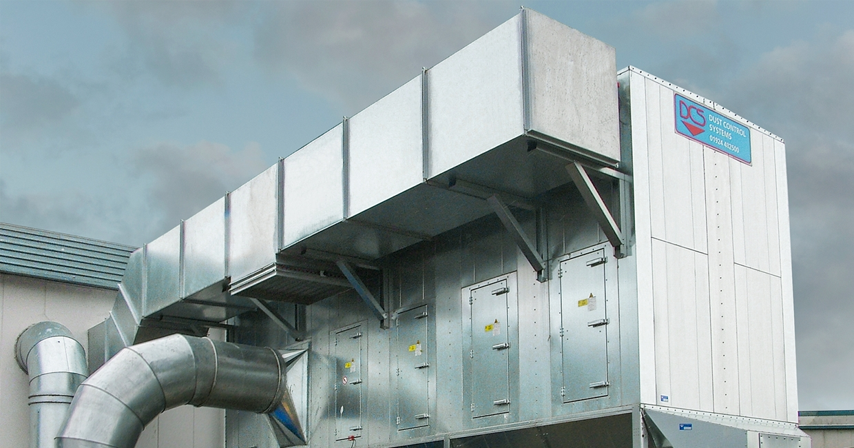 ATEX-approved 40,000m3/hr capacity NFKZ3000 filter unit at Aquapac – supplied and installed by Dust Control Systems