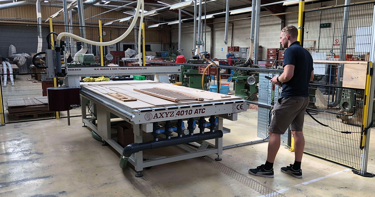 AXYZ router helps W H Mason & Son boost production
