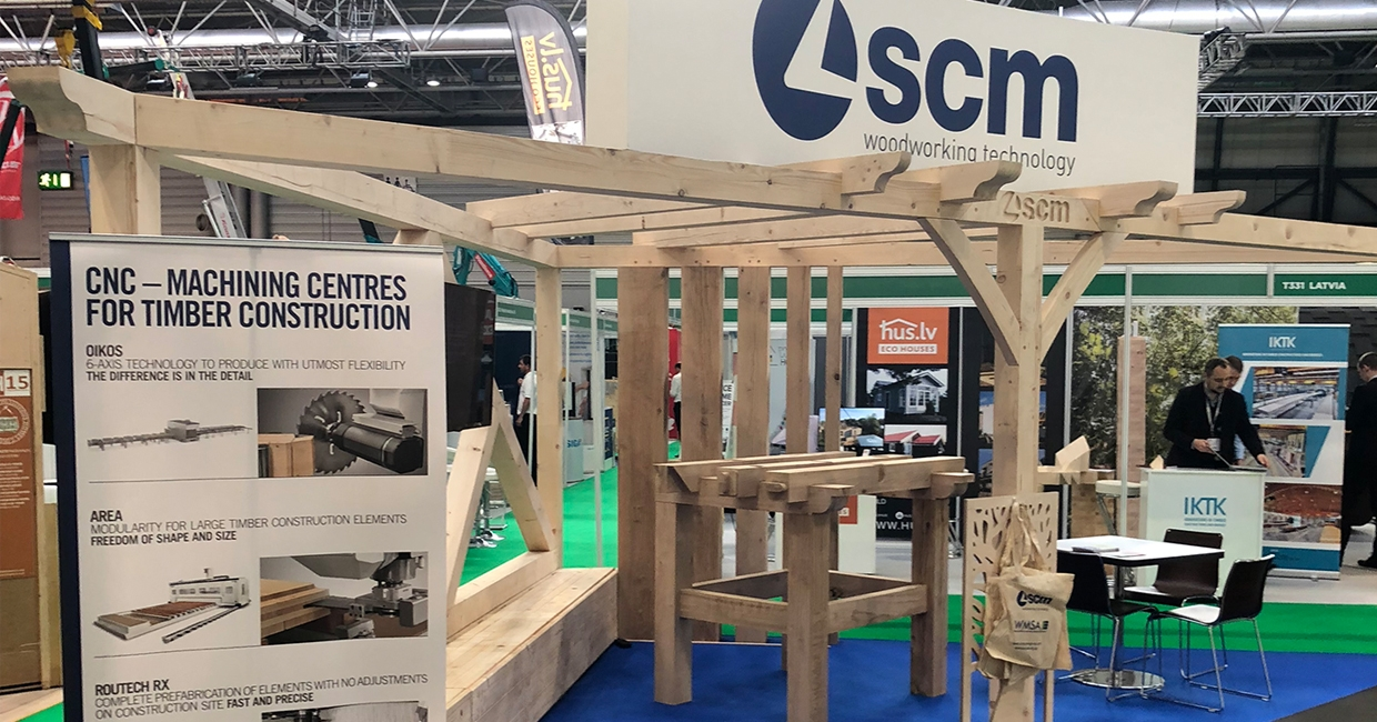 SCM stand at Timber Expo, created by Carvalo