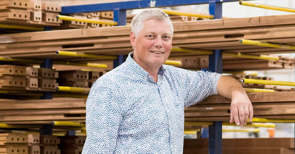 Geert Hermes, owner and founder of G Hermes Joinery