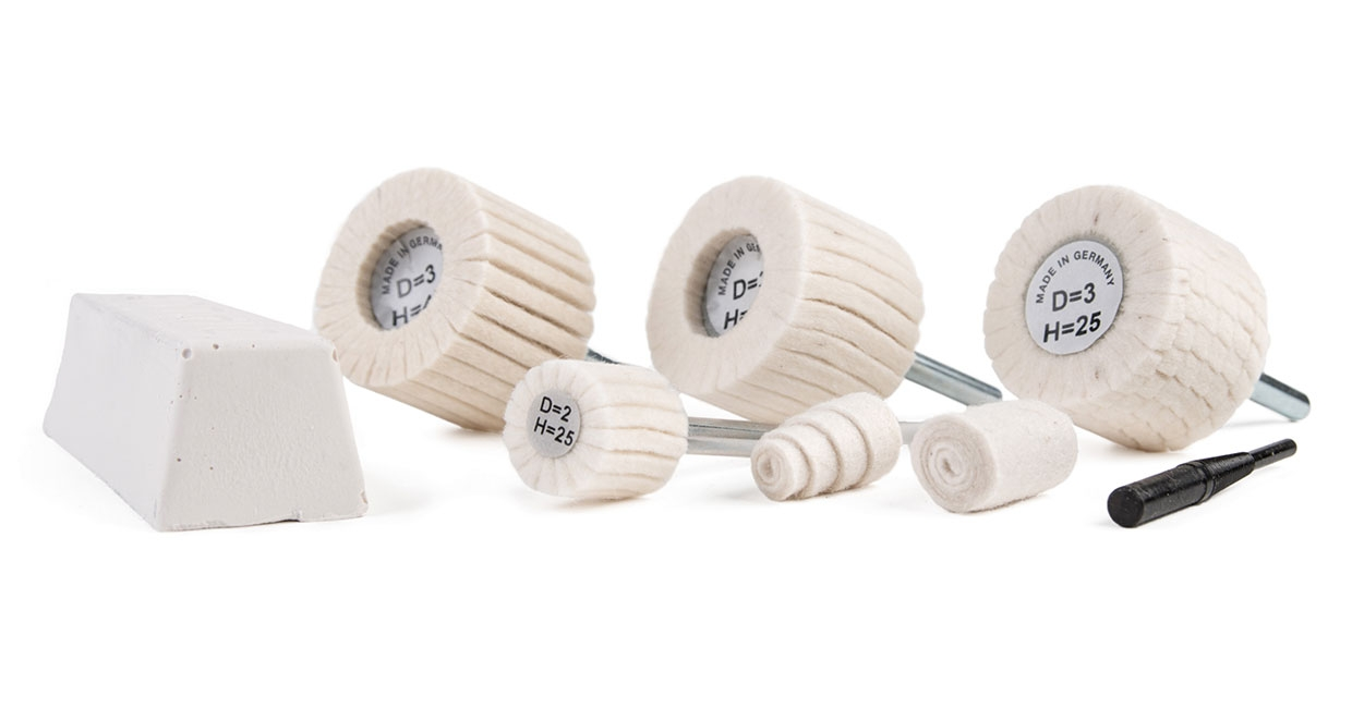 G-Wendt's felt polishing flap wheels and points