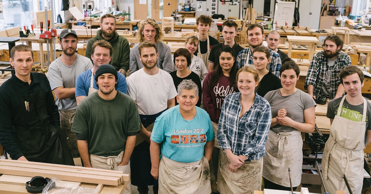 Students at The Building Crafts College