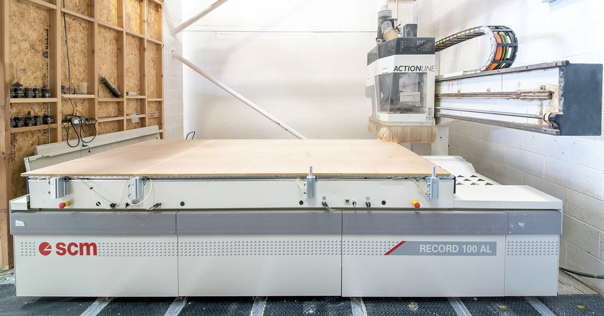 The four-axis, 12-tool SCM Record 100 AL ticked all the boxes