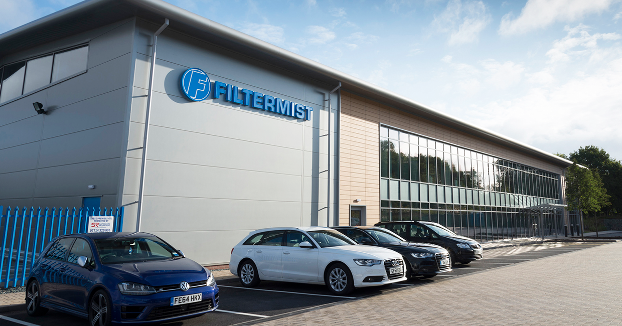 Filtermist's purpose-built headquarters building in Telford