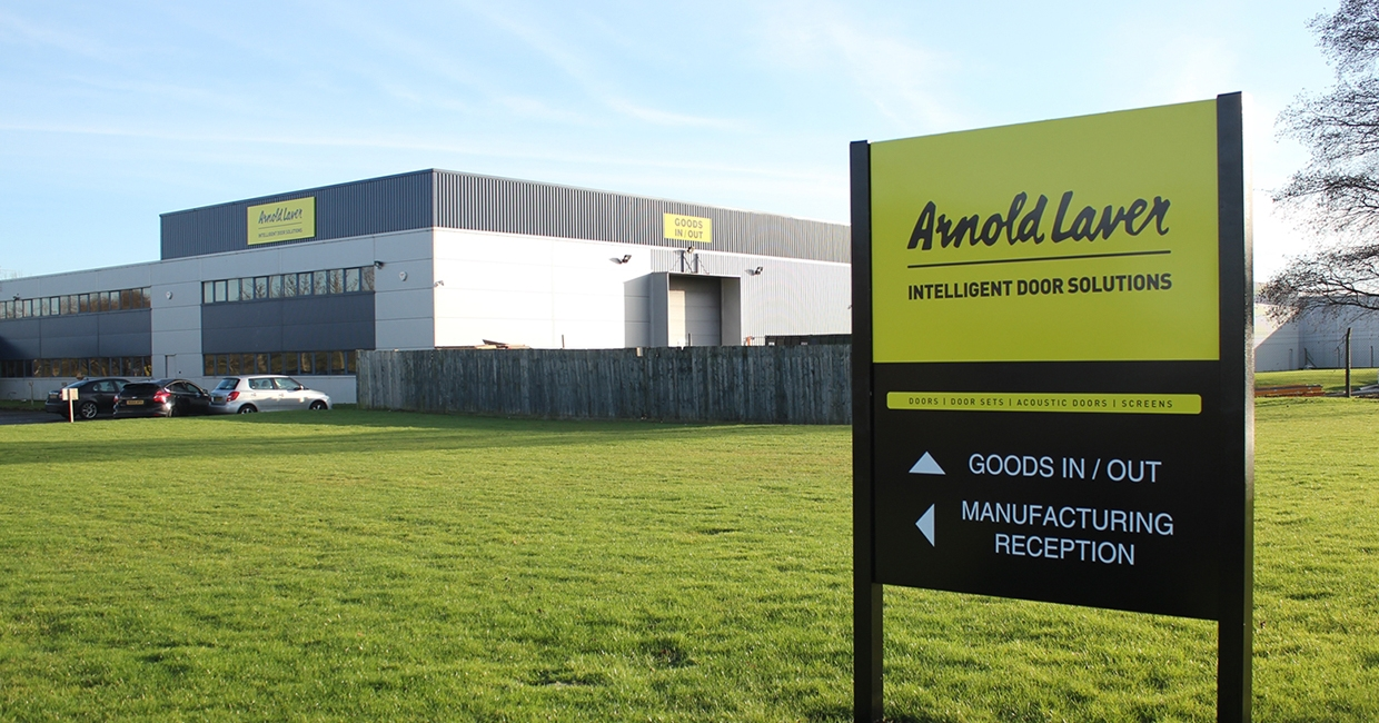 Arnold Laver intelligent door solutions division at Thornaby