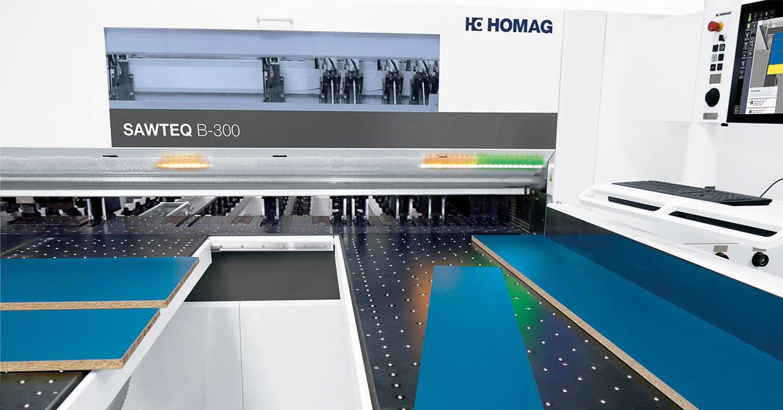 Homag will be running demonstrations of its award-winning intelliGuide light guidance system