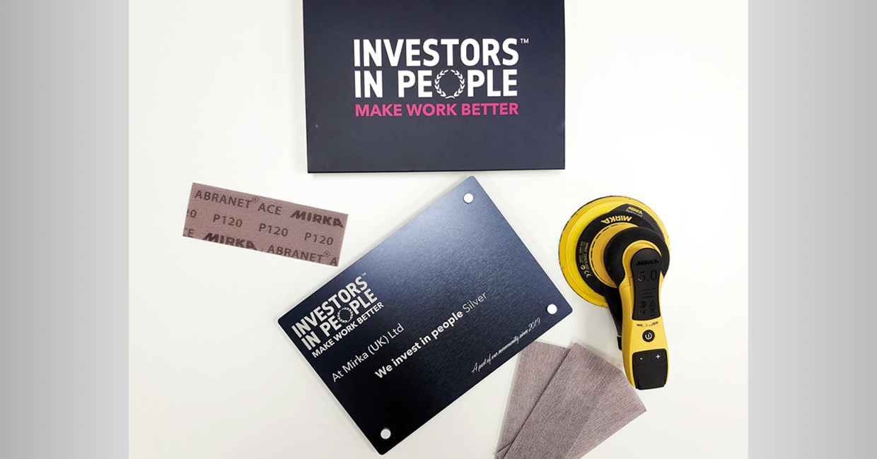 Mirka UK gains Investors in People Silver Award at first attempt