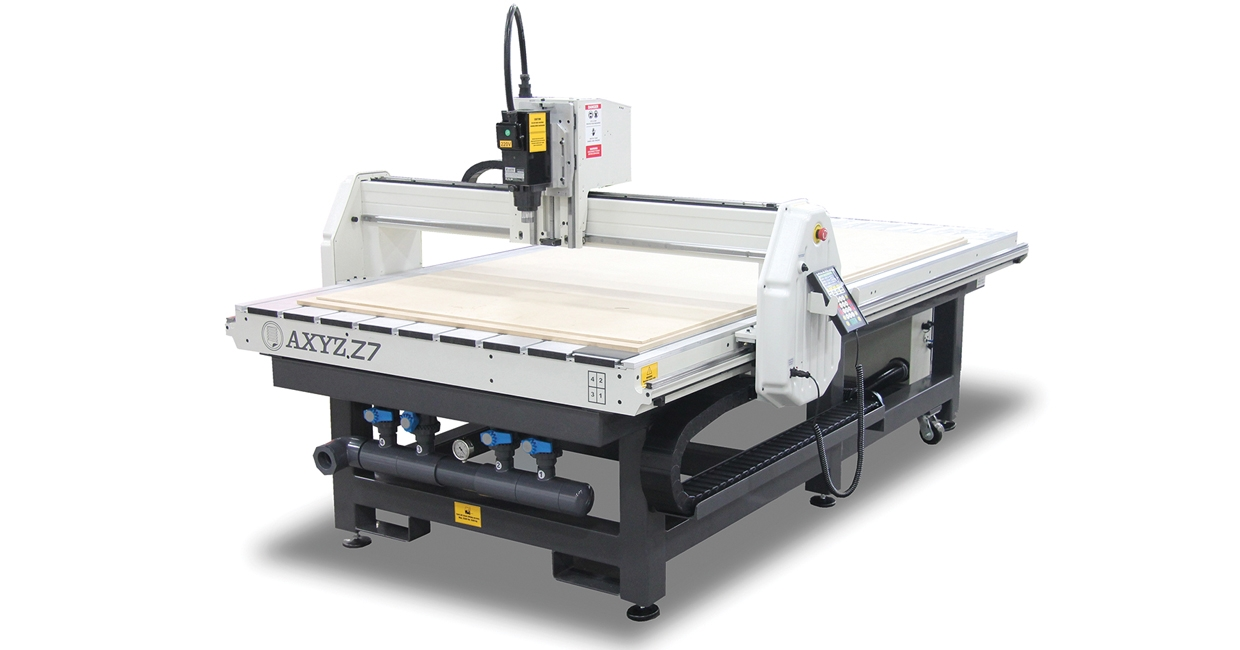 Example of Z7 CNC router installed at Old School Fabrications