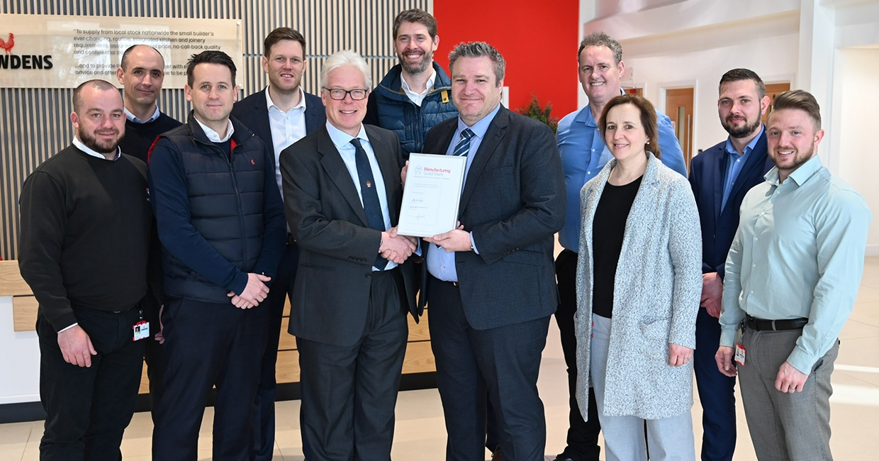 Howdens Joinery awarded the Manufacturing Guild Mark