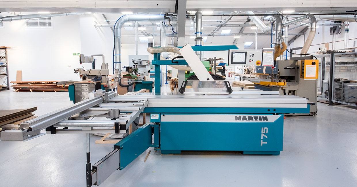 The new extraction system works on 14 woodworking machines