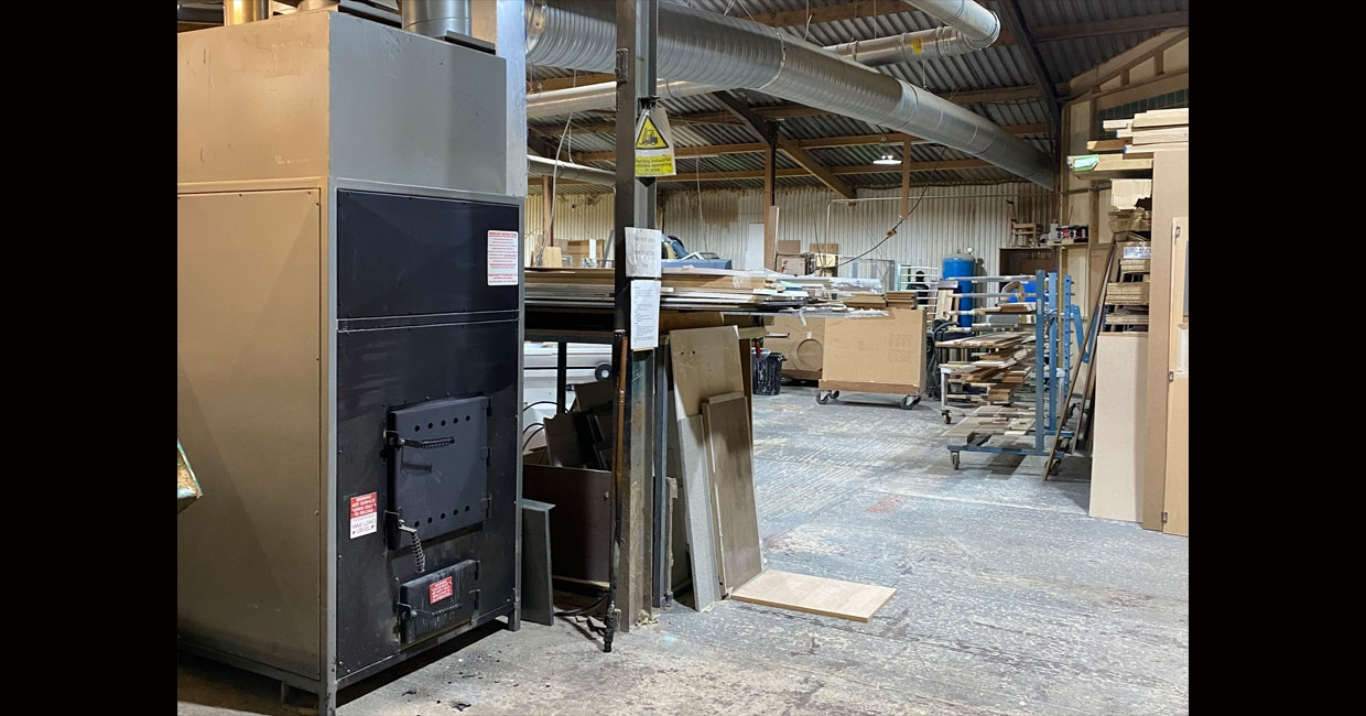 Wood Waste Technology's recent install at Kingsey Furniture & Interiors