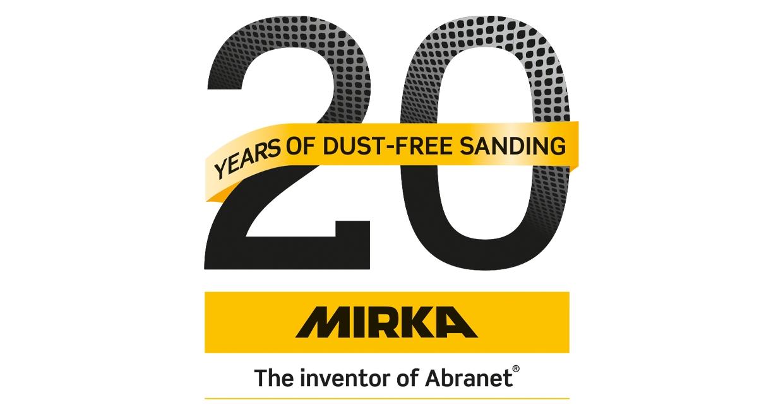 Mirka celebrates 20 years of dust-free sanding