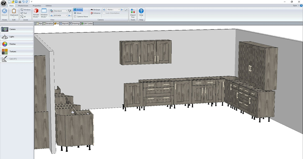 Cabinet Vision 3D view