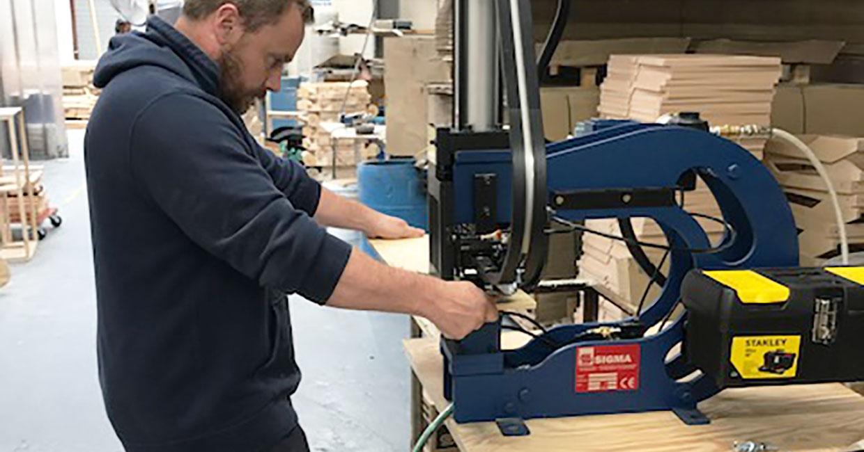 Jet Press supply a Rivet T-Nut machine to Repose Furniture