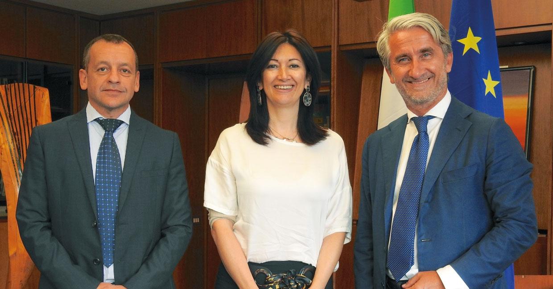 From left: Lorenz Primultini, Marianna Daschini and Luigi De Vito