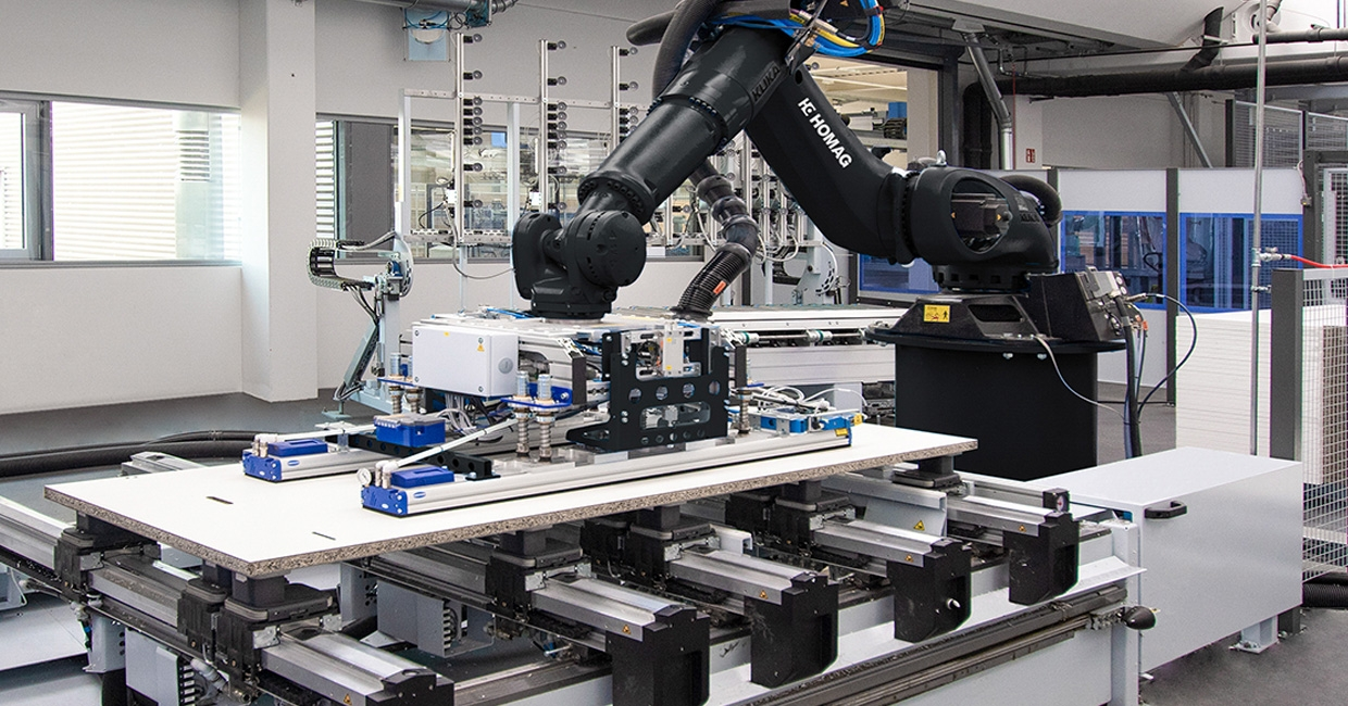Social distanced woodworking production with Homag's automated solutions