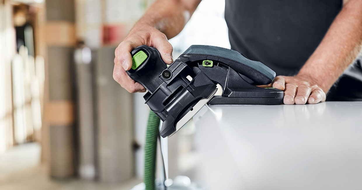 The new ES-ETS 125/ES-ETSC 125 edge sander from Festool