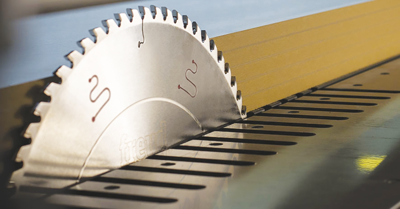 Freud LSB X on panel sizing machine