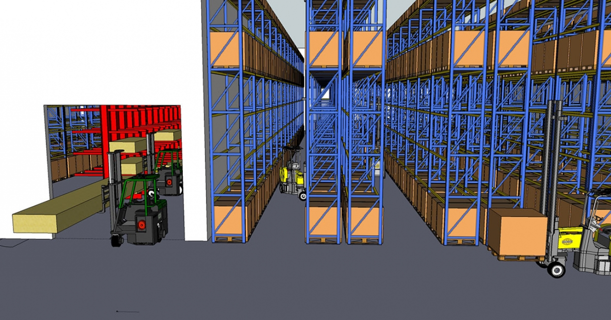 Combilift now offers a free virtual warehouse layout service