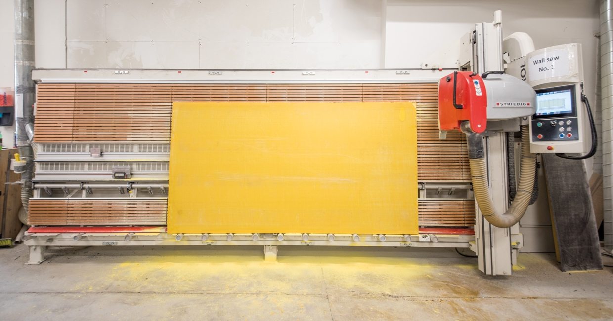 Sui Generis has invested in a second Striebig Control vertical panel saw