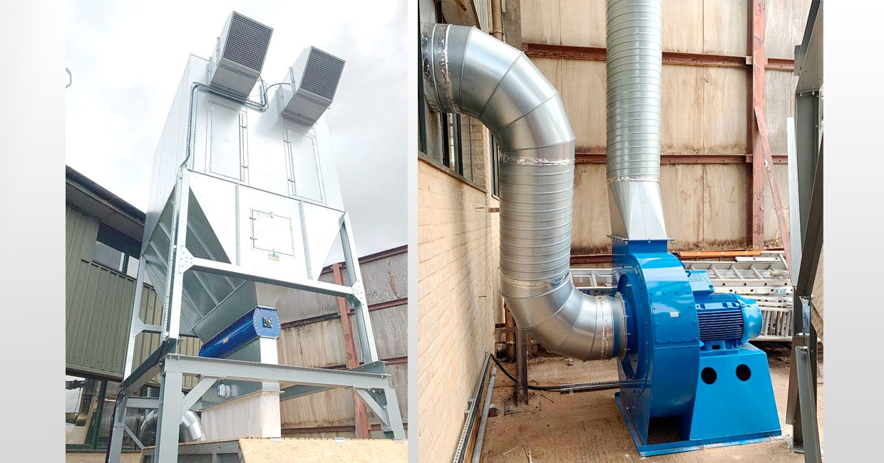 Wood Waste Control has installed a new dust extraction system at Cambridge-based Coulson Building Group