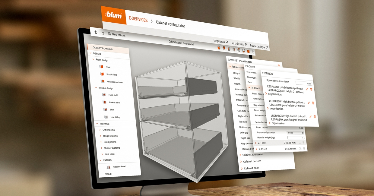 Cabinet Configurator – total support from planning to manufacturing