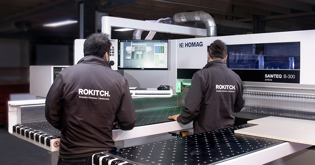 The Sawteq B-300 with intelliGuide  - Homag's intelligent machine operator assistance system