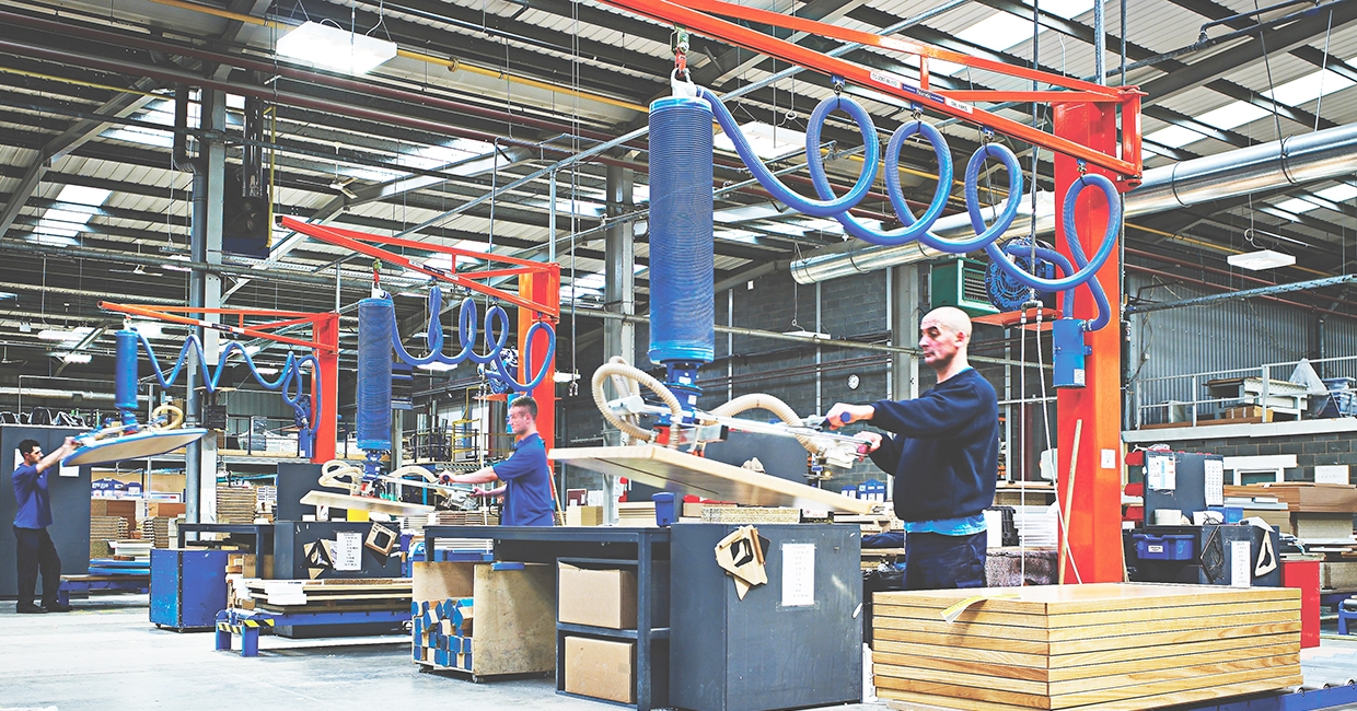 Engineered lifting solutions for industrial wood processes and ATEX areas