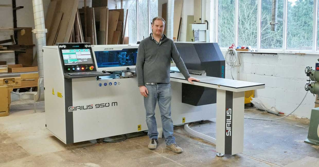 Tom Hancock with TaylorMade by Stanton's AES Sirius 950M CNC drilling machine