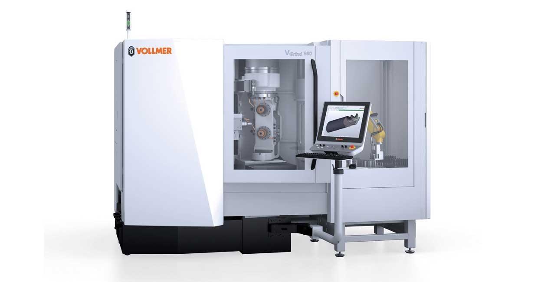 Vollmer VGrind 360 with robotic loading system
